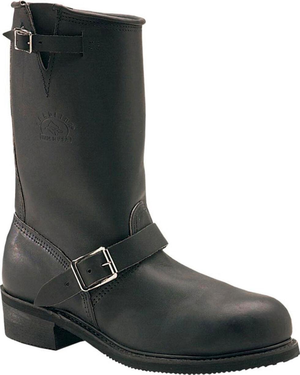 "Carolina Men's Engineer 12"" Work Boots - Steel Toe, Black, hi-res"