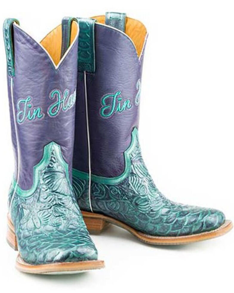 Tin Haul Women's Under The Sea Western Boots - Wide Square Toe, Multi, hi-res