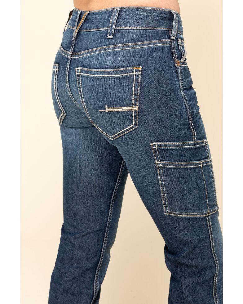 Ariat Women's Rebar Mid Rise Durastretch Nightride Riveter Work Straight Jeans, Blue, hi-res