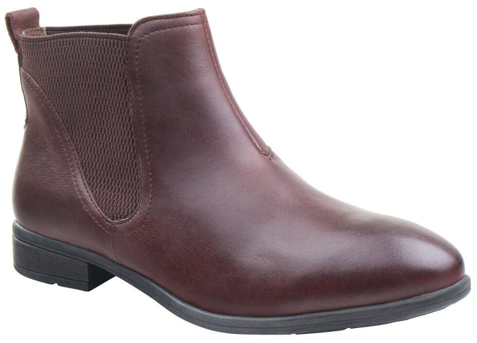 Eastland Women's Dark Walnut Brandi Chelsea Boots , Brown, hi-res