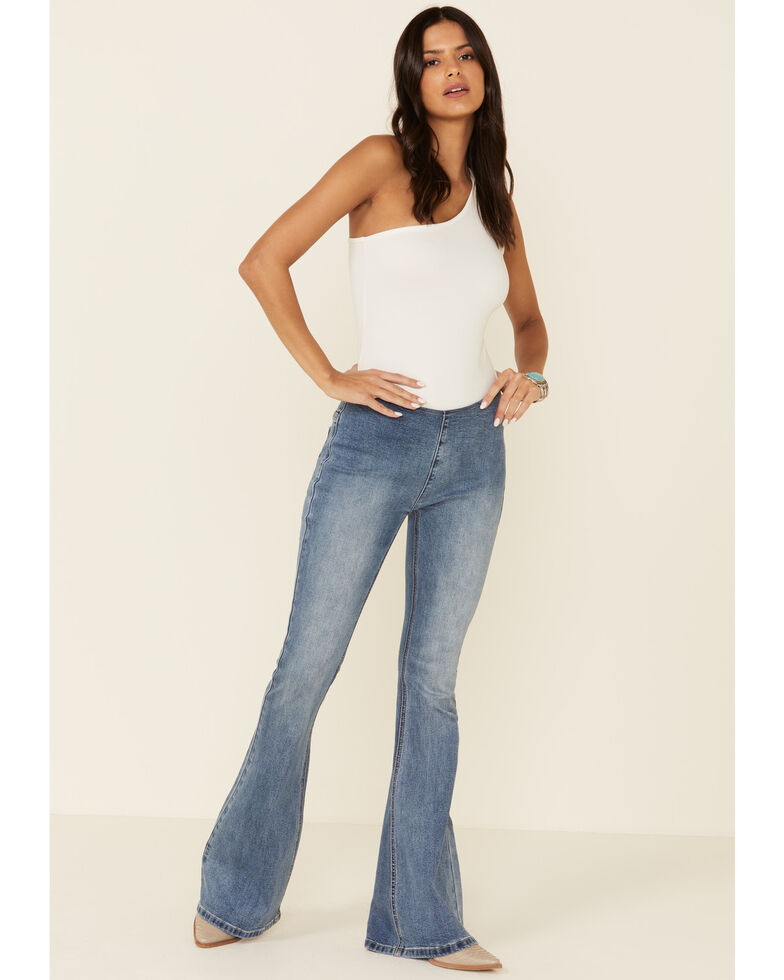 Wishlist Women's Pull-On Flare Jeans, Blue, hi-res