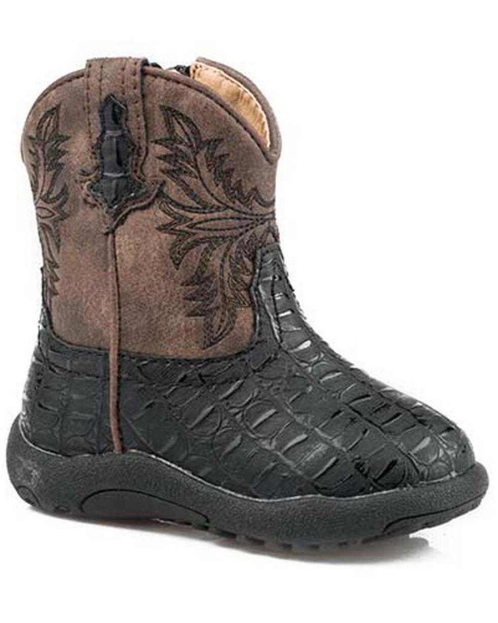 Roper Infant Boys' Chomp Western Boots - Round Toe, Black, hi-res