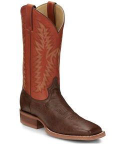 Justin Men's McLane Western Boots - Wide Square Toe, Brown, hi-res
