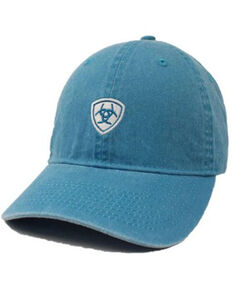 Ariat Women's Solid Turquoise Center Shield Logo Ball Cap , Turquoise, hi-res