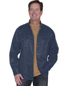 Scully Men's Moleskin Overshirt, Blue, hi-res