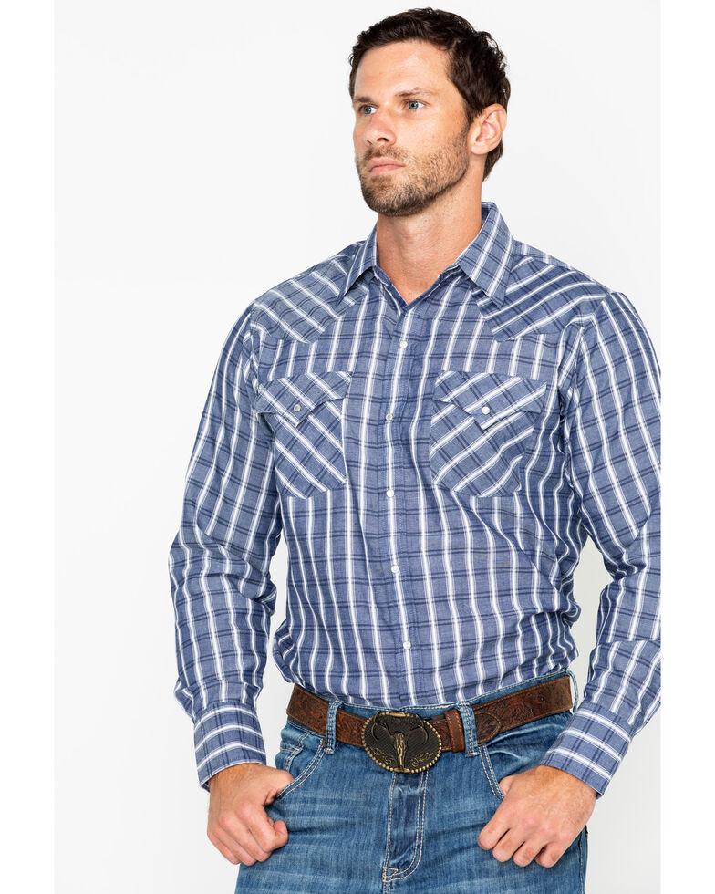 af5c9f8d643 Ely Cattleman Men s Textured Plaid Long Sleeve Western Shirt ...