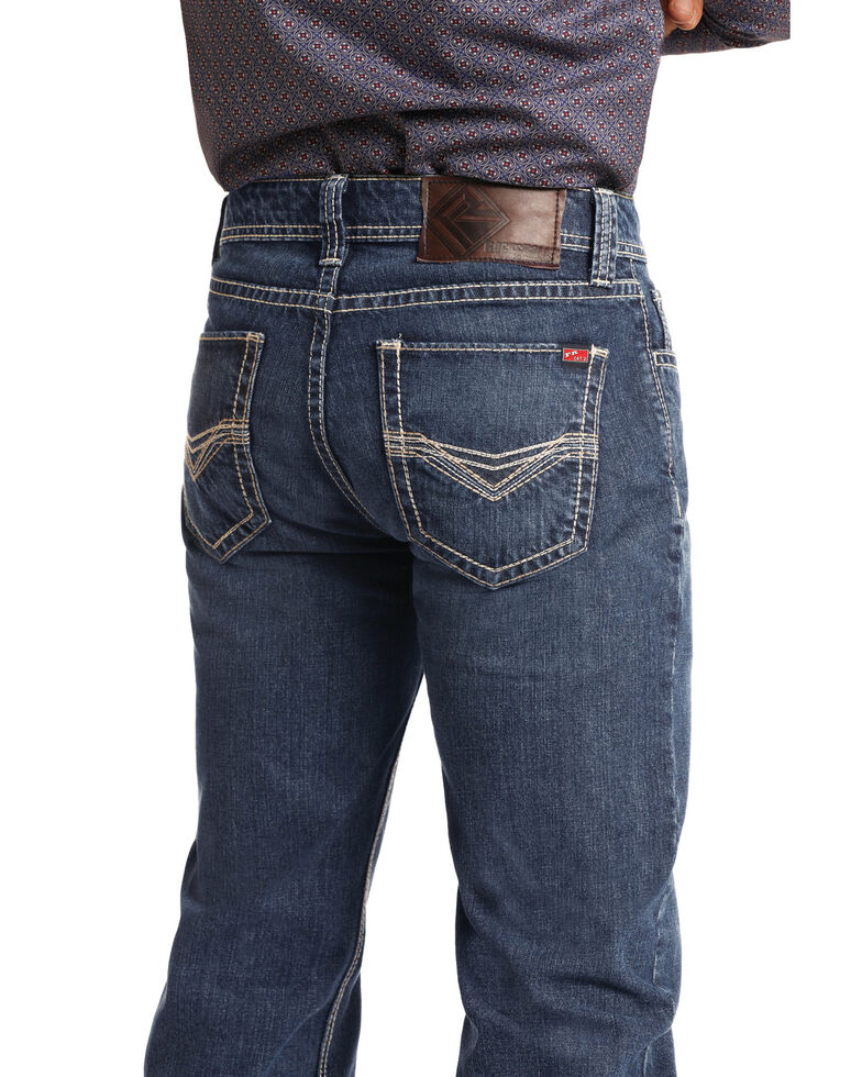 Rock & Roll Denim Men's FR Double Barrel Relaxed Straight Work Jeans , Medium Blue, hi-res