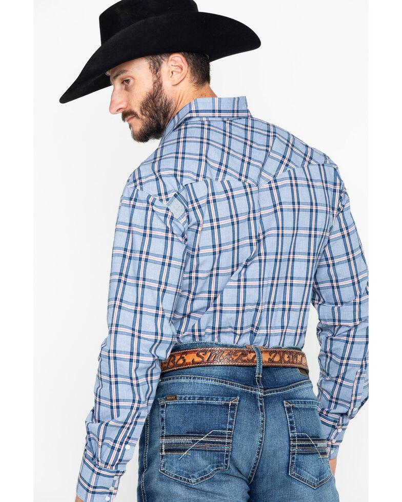 Roper Men's Indigo Blues Large Plaid Snap Long Sleeve Shirt , Navy, hi-res