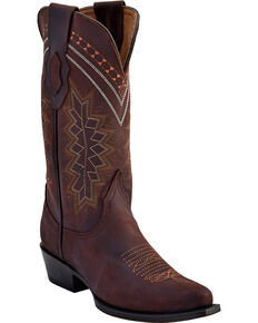 Ferrini Women's Chocolate Navajo Western Boots - Snip Toe , Chocolate, hi-res