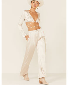 The Now Women's Champagne Sloan Pants , Cream, hi-res