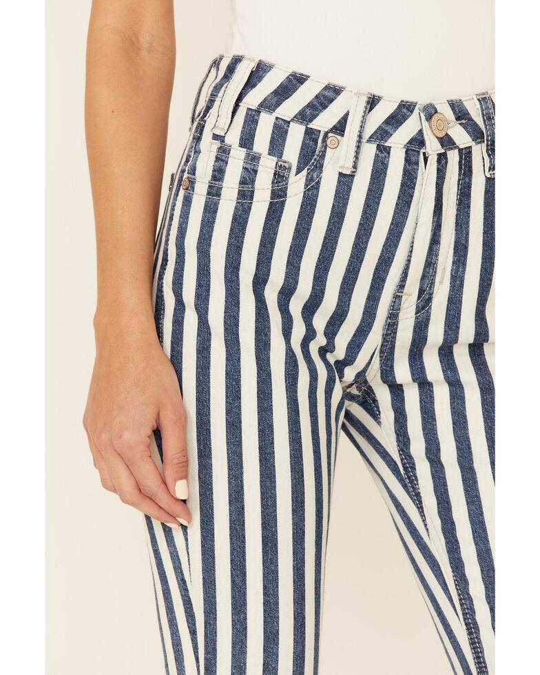Rock & Roll Denim Women's Stripe High-Rise Flare Jeans, Multi, hi-res