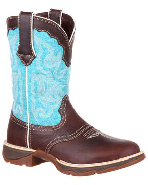 Durango Women's Lady Rebel Western Saddle Boots - Round Toe, Brown, hi-res