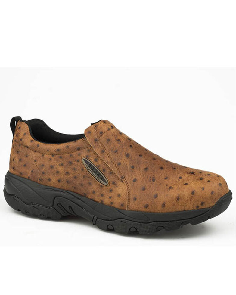 Roper Men's Air Tan Driving Shoes - Round Toe, Tan, hi-res