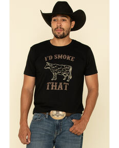 Cody James Men's Short Sleeve Smoke That Black Graphic Tee, Black, hi-res