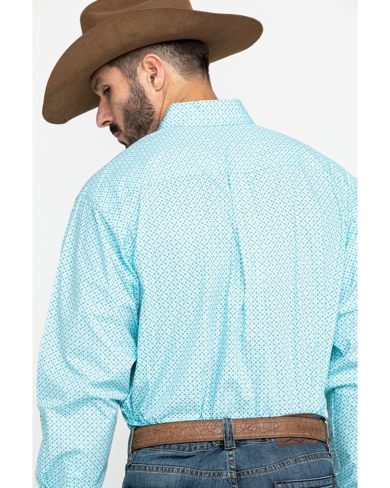 Cinch Men's Light Blue Small Geo Print Long Sleeve Western Shirt , Light Blue, hi-res