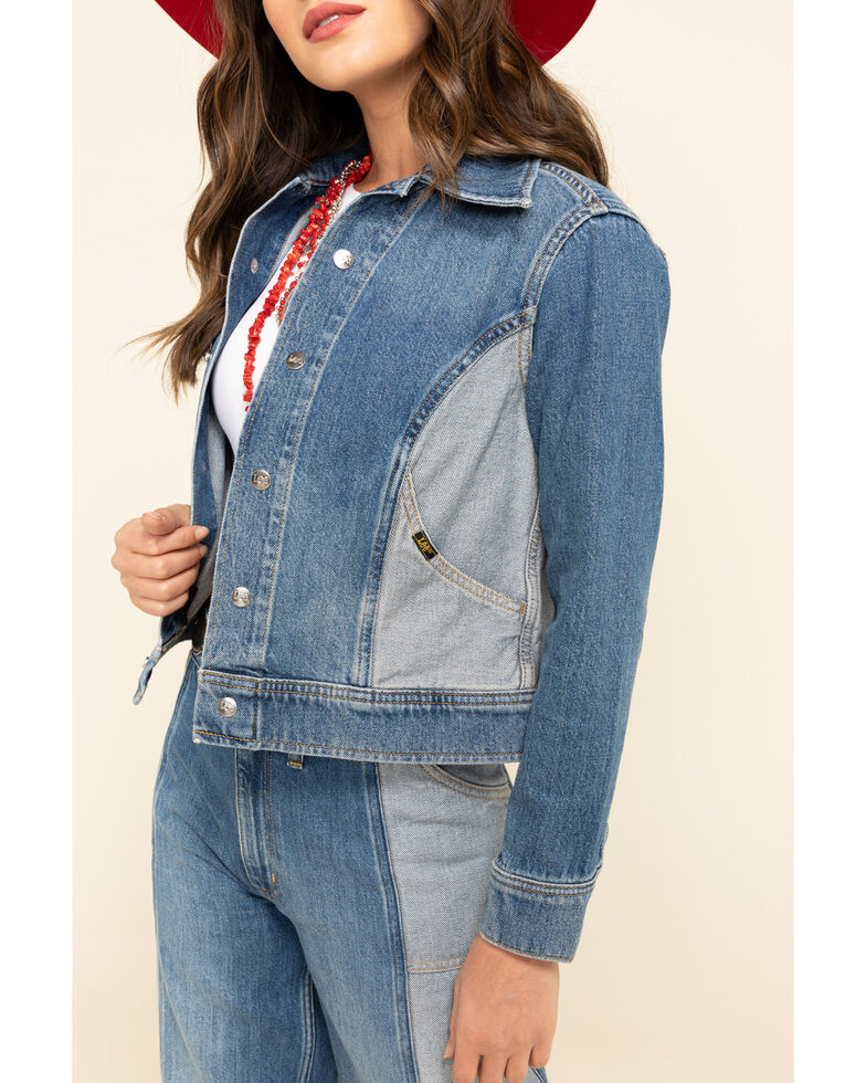Lee Women's Contrast Denim Seamed Jacket , Blue, hi-res