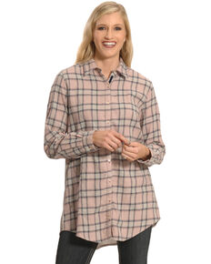 3J Workshop Women's Imogen Pleated Back Smock Shirt , Multi, hi-res