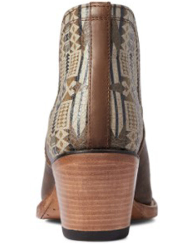 Ariat Women's Weathered Brown Pendleton Dixon Full-Grain Western Fashion Bootie - Snip Toe, Brown, hi-res