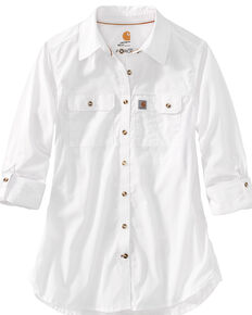 Carhartt Women's Force Ridgefield Shirt , White, hi-res
