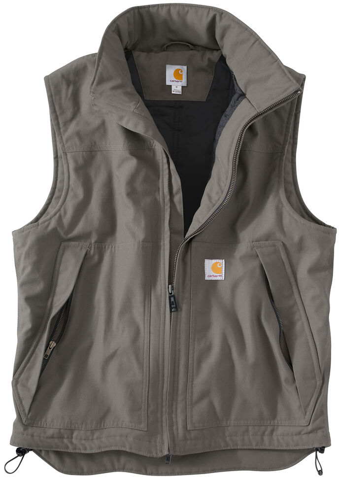 Carhartt Quick Duck Jefferson Vest, Charcoal Grey, hi-res