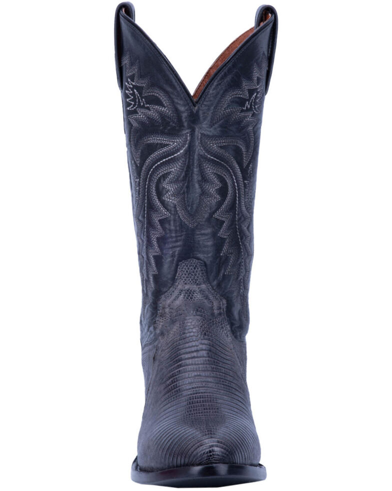 Dan Post Men's Grey Winston Lizard Western Boots - Round Toe, Grey, hi-res