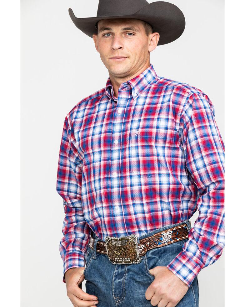 Ariat Men's Oakden Large Plaid Long Sleeve Western Shirt , Multi, hi-res
