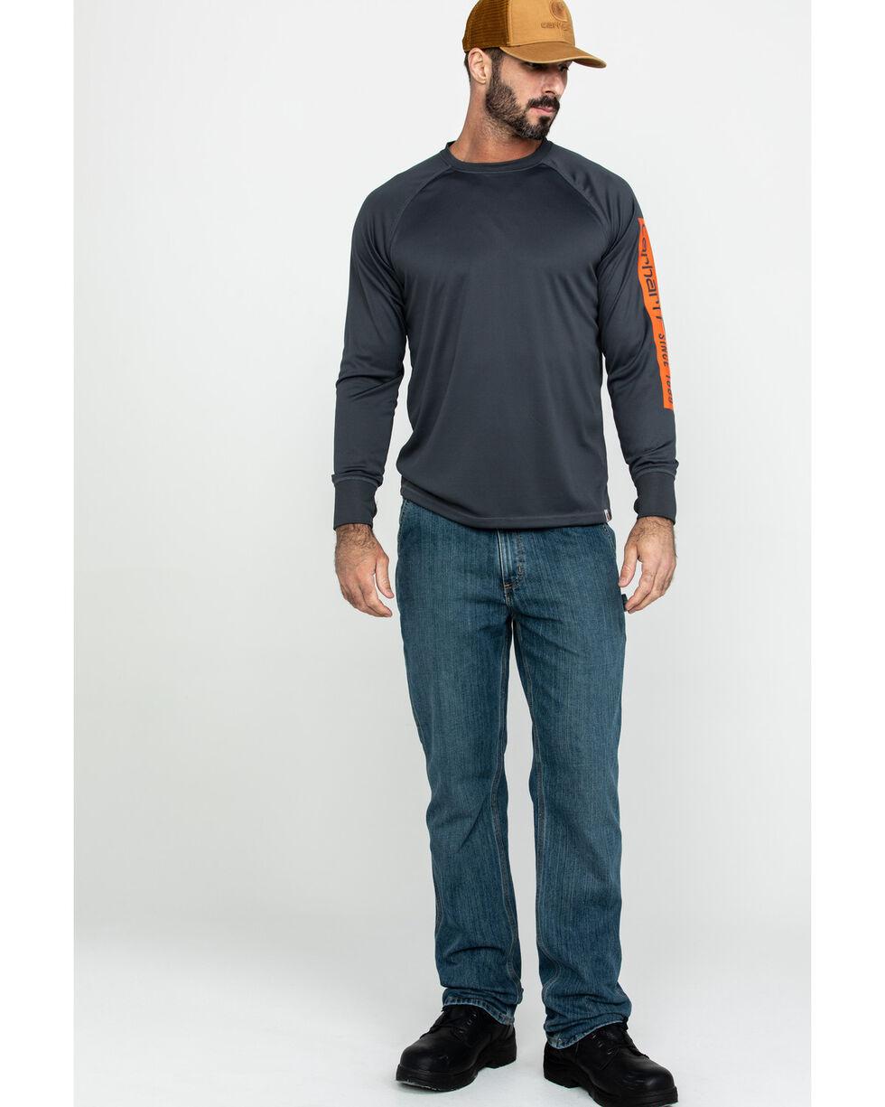 Carhartt Men's Force Birdseye Graphic Long Sleeve Work Shirt , Grey, hi-res