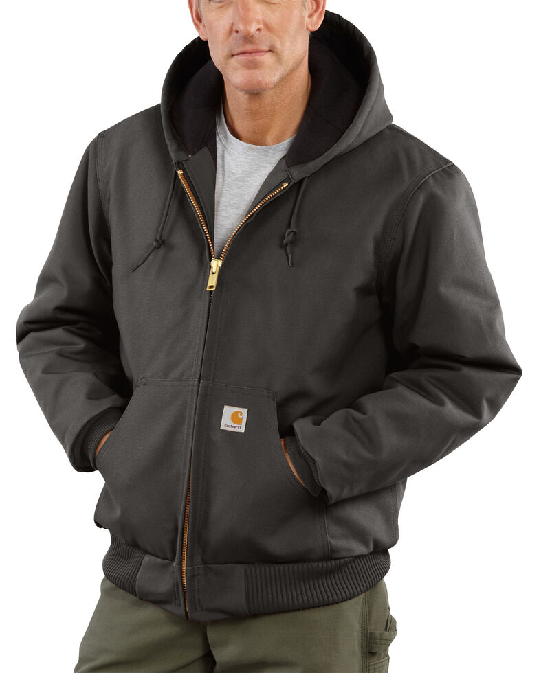 Carhartt Quilted Flannel-Lined Duck Active Jacket, Grey, hi-res