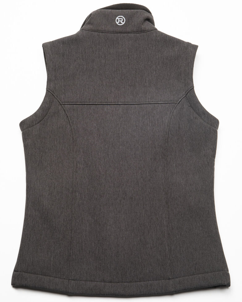Roper Girls' Grey Softshell Vest, Grey, hi-res