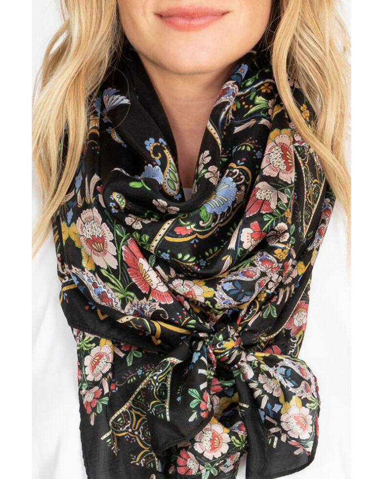 Johnny Was Women's May Ann Scarf, Black, hi-res