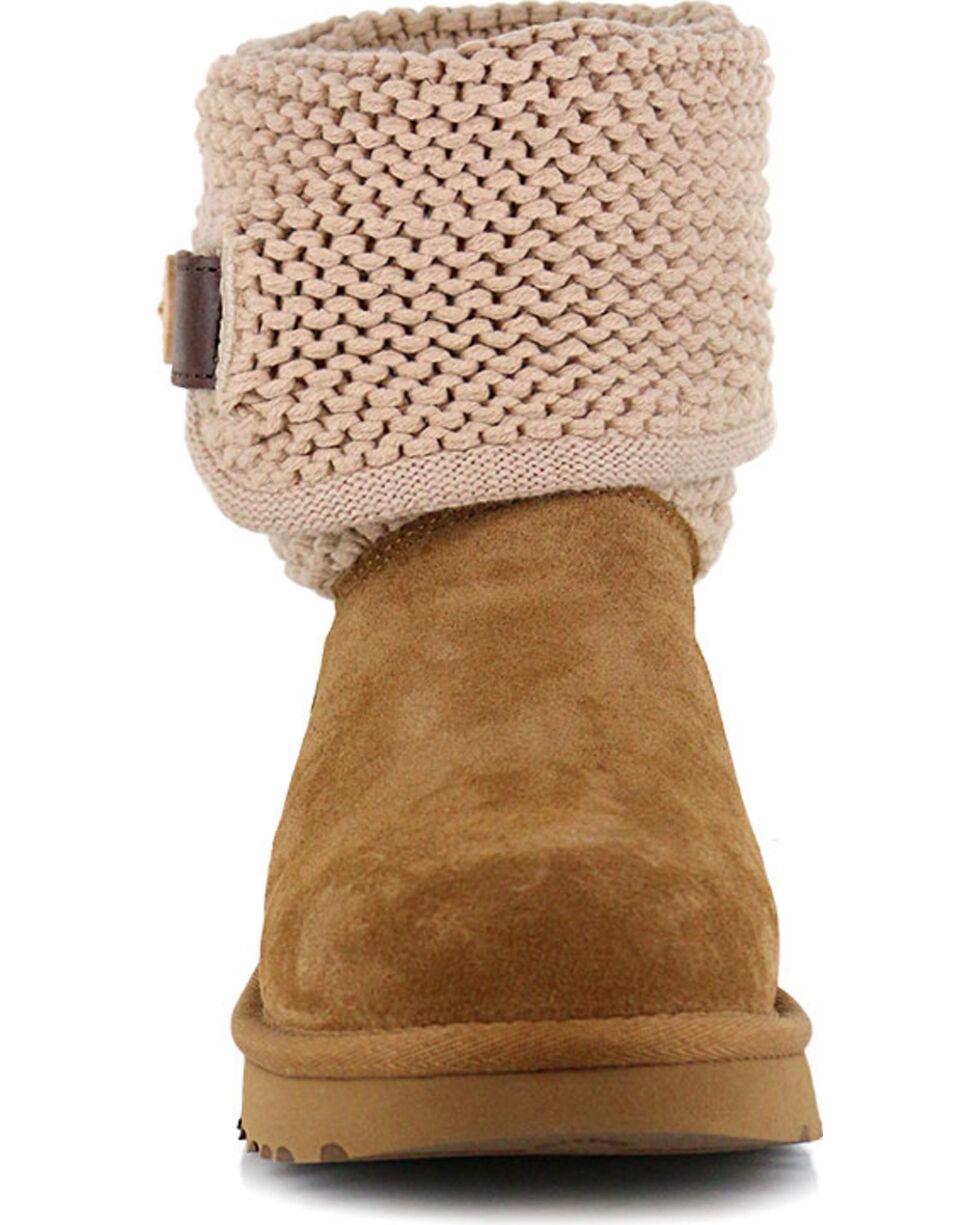 UGG Women's Chestnut Shaina Boots - Round Toe , Chestnut, hi-res