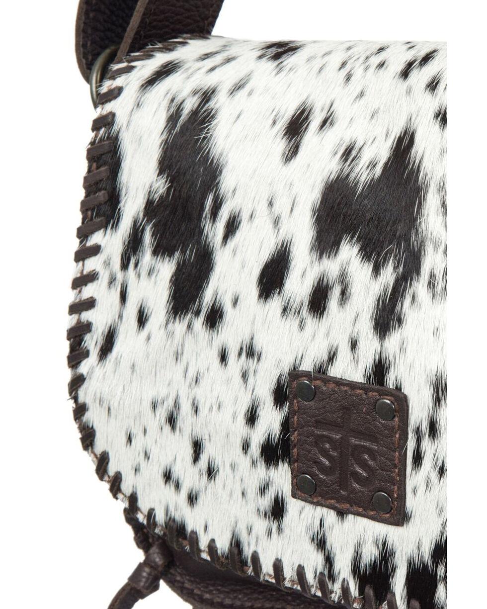 STS Ranchware Cowhide Selahs Saddle Bag, Chocolate, hi-res