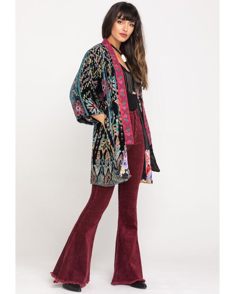 Johnny Was Women's Payden Reversible Kimono, Black, hi-res