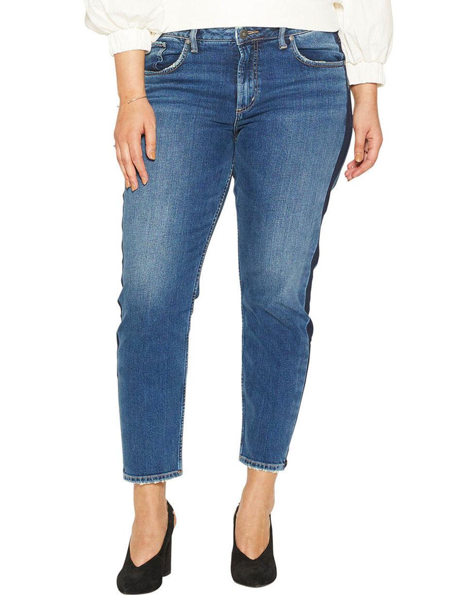 Silver Women's Vintage Dark Wash Slim Leg Jeans - Plus, Indigo, hi-res