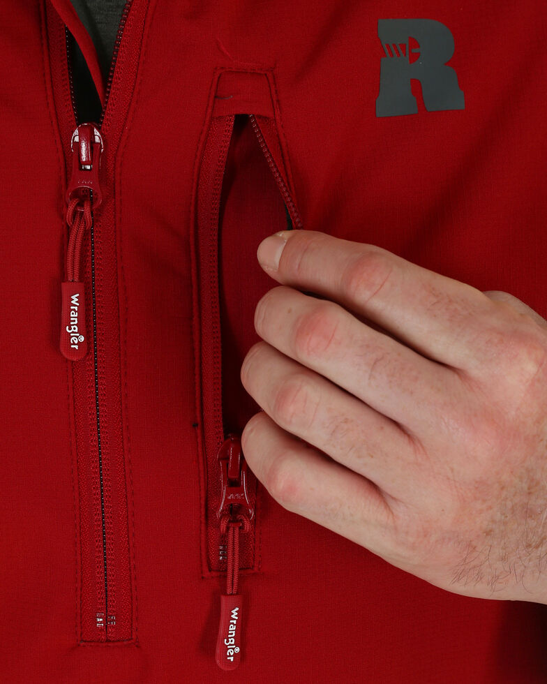 Wrangler Riggs Men's Technician Softshell Work Pullover, Red, hi-res