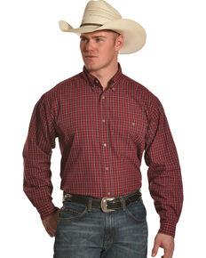 Wrangler Men's Red Rugged Wear Blue Ridge Western Shirt , Red, hi-res