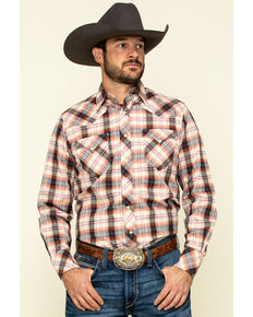 Roper Men's West Made Multi Rope Plaid Long Sleeve Western Shirt , Multi, hi-res