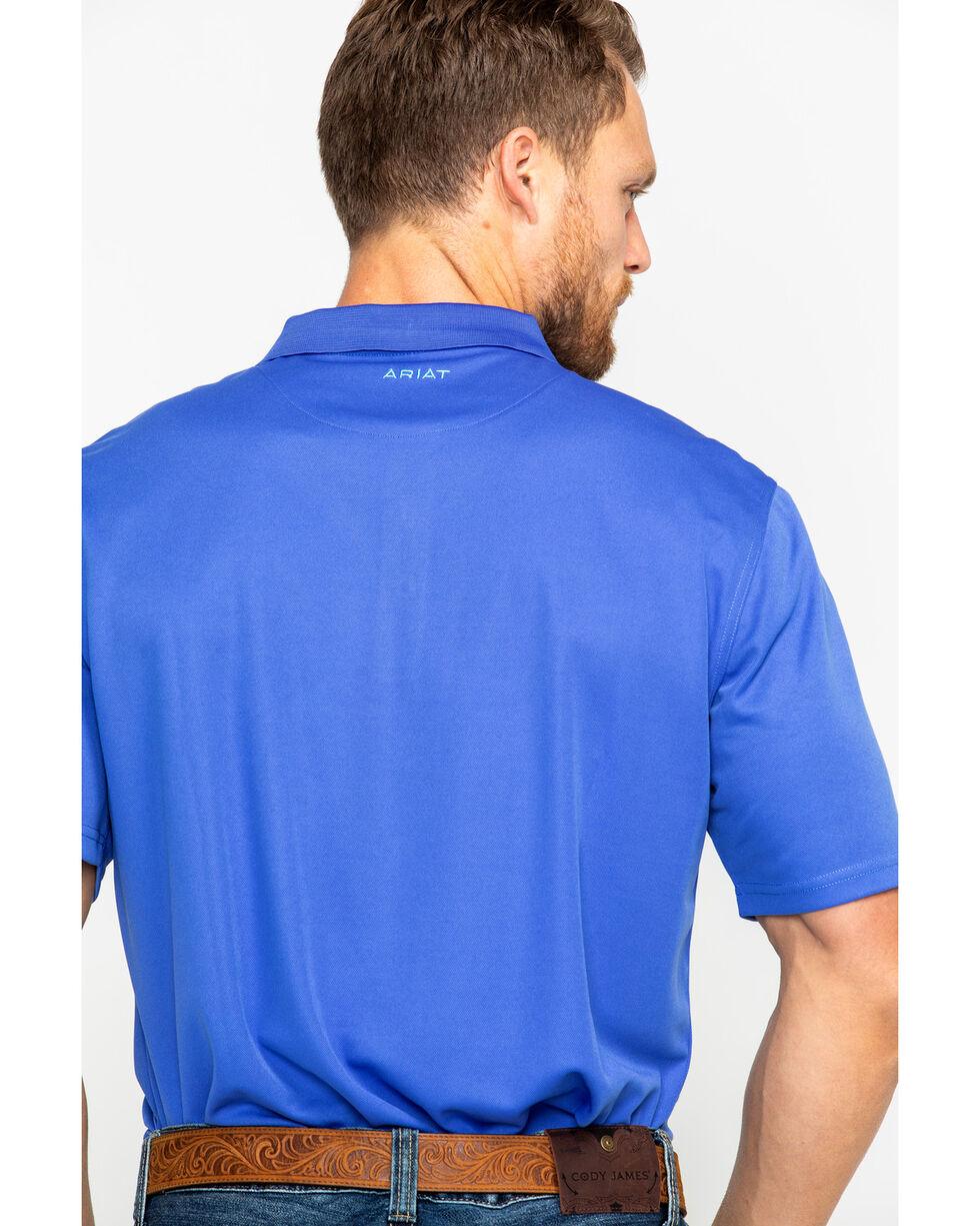 Ariat Men's Solid Tek Amparo Short Sleeve Polo Shirt , , hi-res
