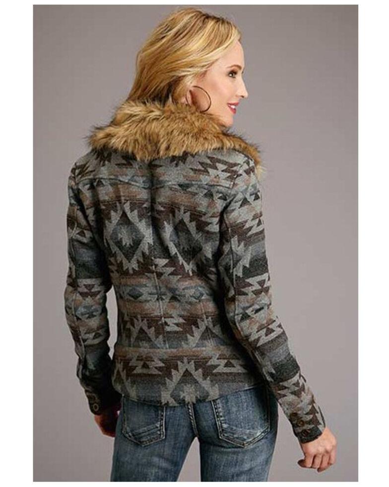 Stetson Women's Grey Aztec Print Jacket , Grey, hi-res