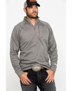 Wrangler 20X Men's Advanced Comfort Oatmeal 1/2 Zip Pullover Sweatshirt , Oatmeal, hi-res