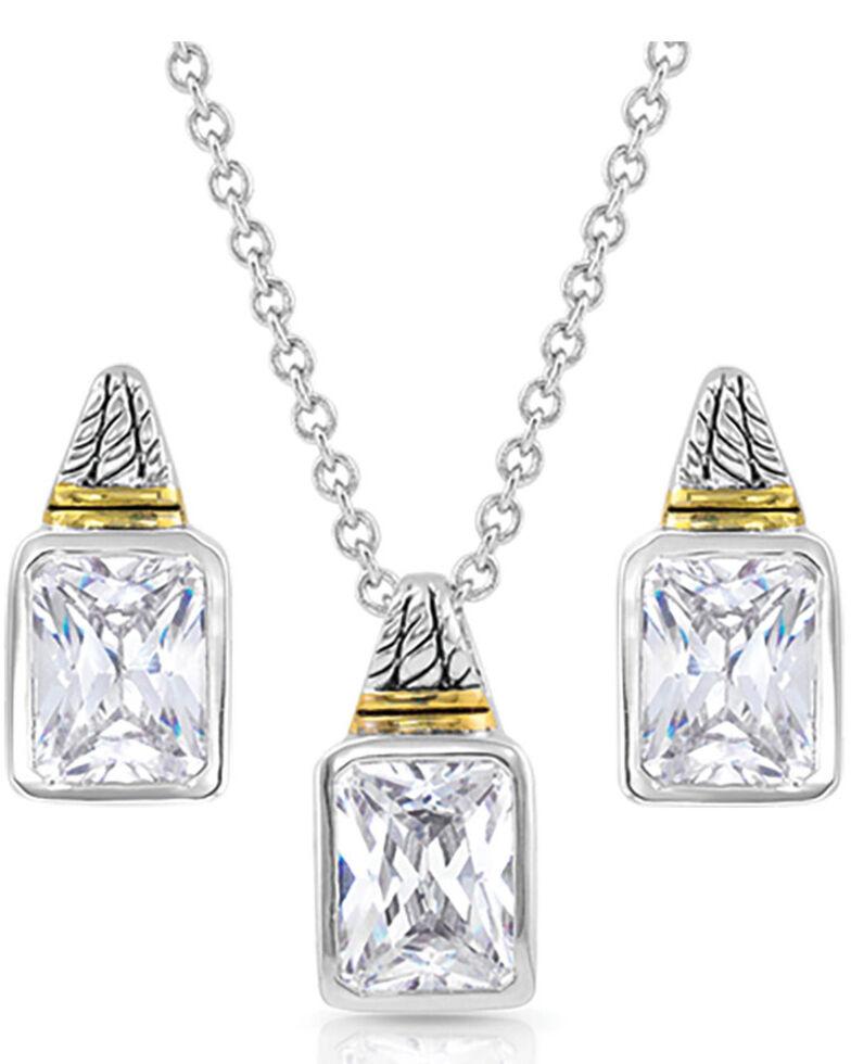 Montana Silversmiths Women's Two Tone Brilliance Jewelry Set, Silver, hi-res