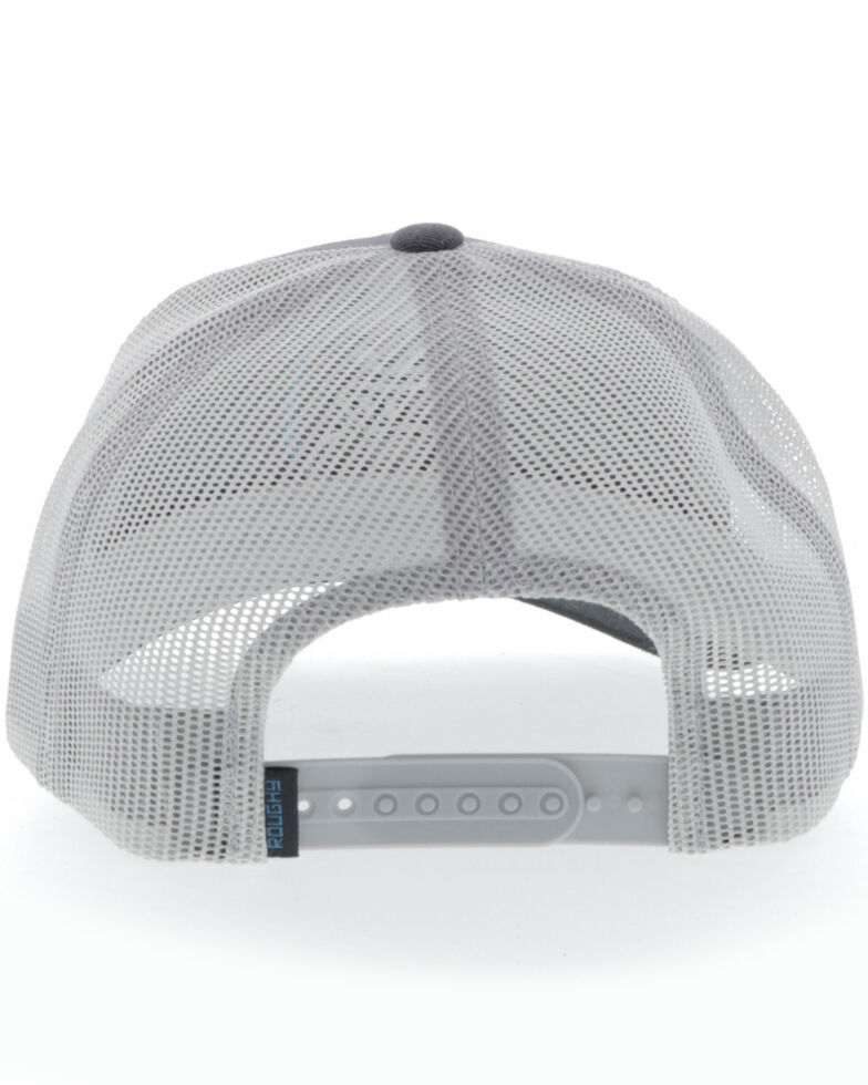 HOOey Men's Grey & White Roughy Strap Mesh Ball Cap , Grey, hi-res