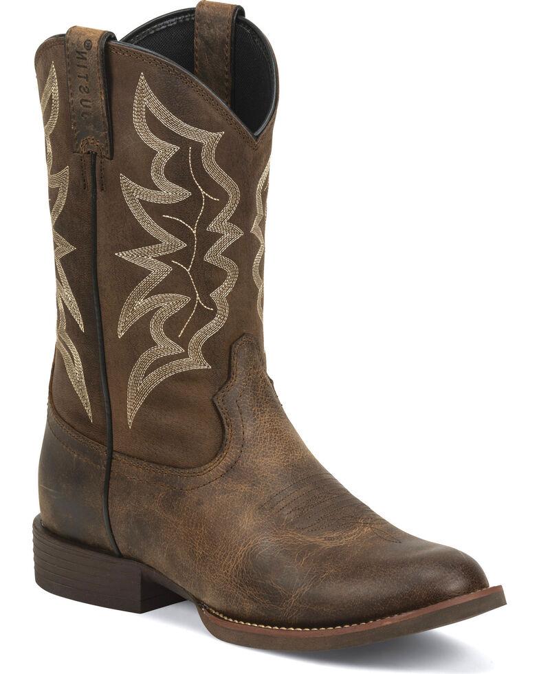 Justin Men S Buster Stampede Cowboy Boots Round Toe