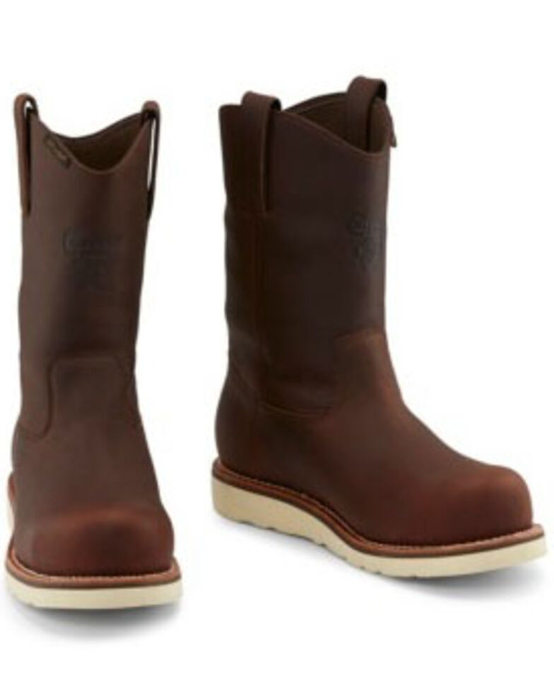 "Chippewa Men's 11"" Edge Walker Waterproof Western Work Boots - Composite Toe, Brown, hi-res"