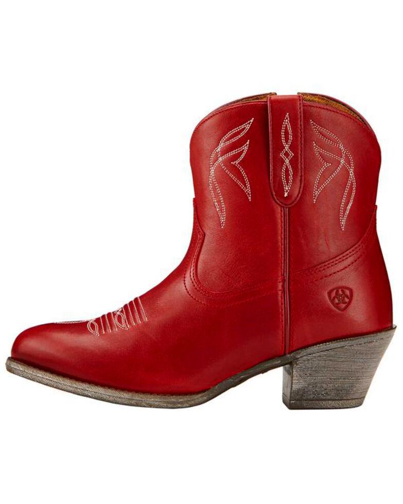 Ariat Women's Darlin Booties - Medium Toe , Red, hi-res