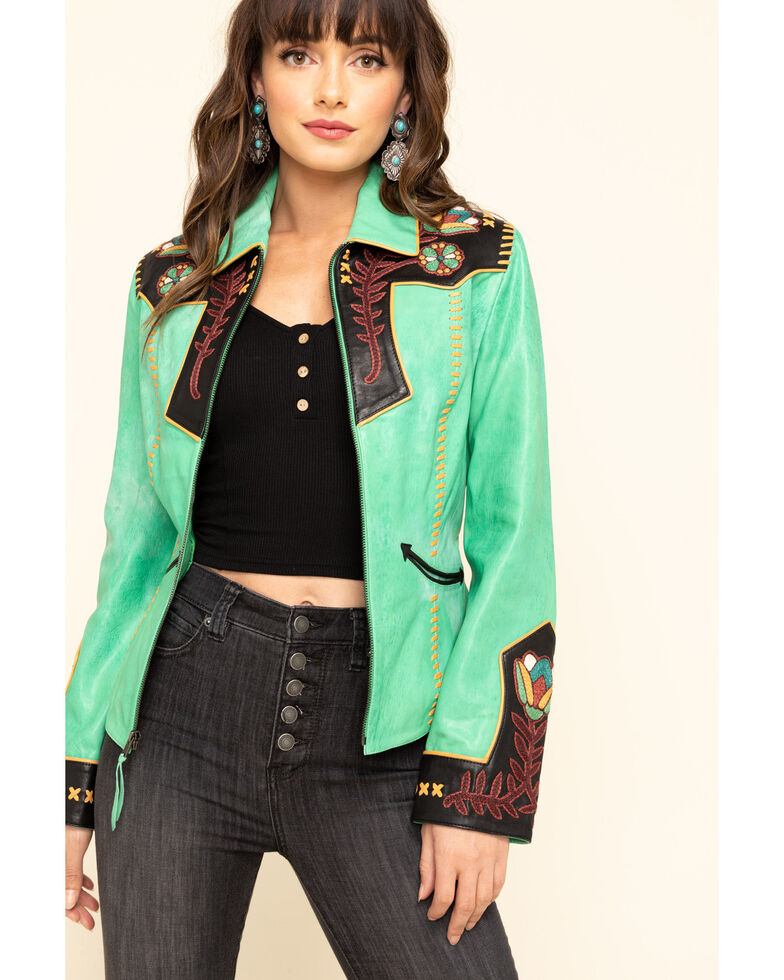 Double D Ranch Women's Green Cass Jacket, Green, hi-res