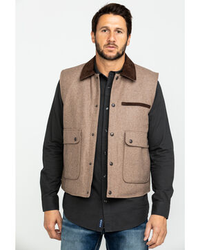 Cripple Creek Ranger Micro Suede Vest , Cream, hi-res