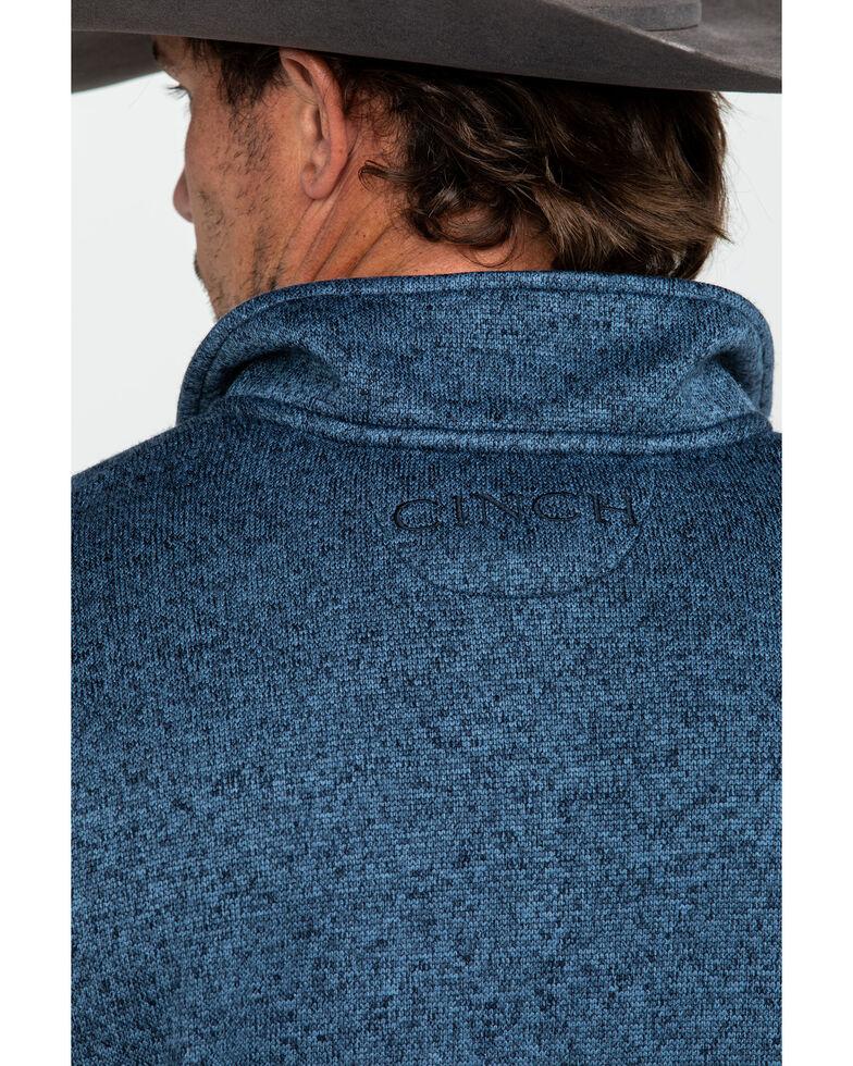 Cinch Men's Blue Fleece 1/4 Zip Front Pullover, Blue, hi-res