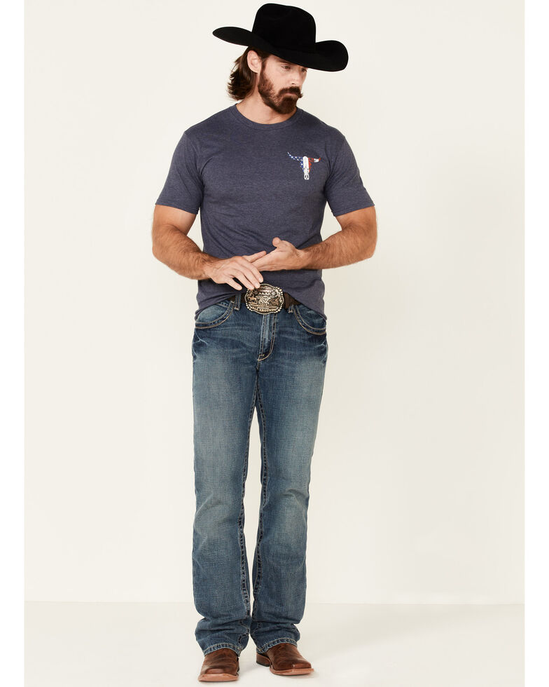 Cowboy Hardware Men's Freedom Isn't Free Graphic Short Sleeve T-Shirt , Navy, hi-res