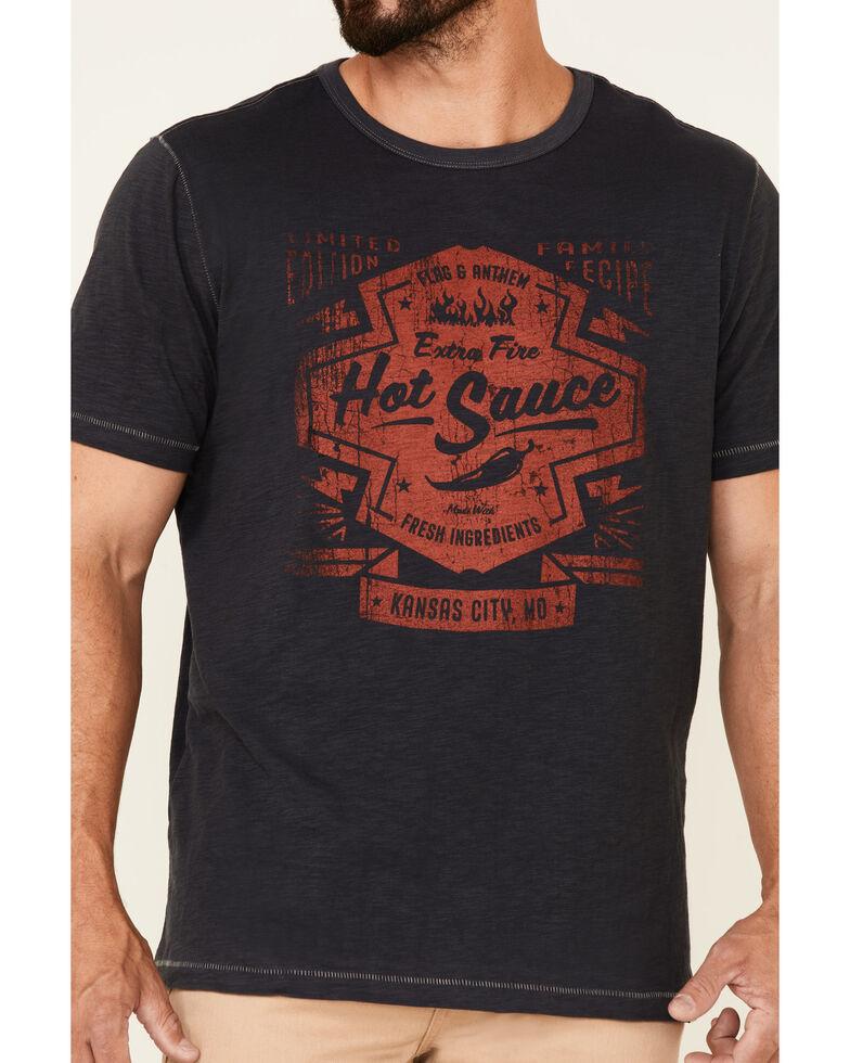 Flag & Anthem Men's Navy Fire Hot Sauce Graphic Slub Short Sleeve T-Shirt , Navy, hi-res